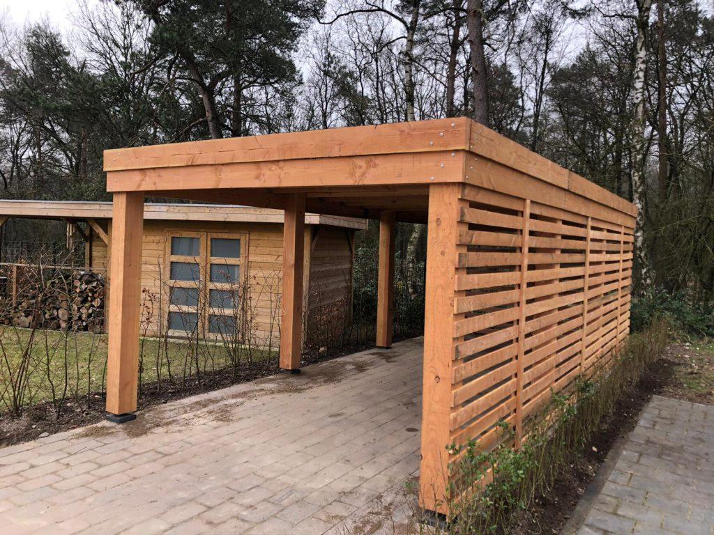 Ontwerp en bouw van een carport